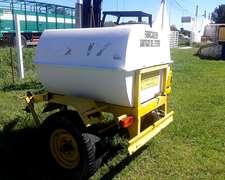 Acoplado Tanque 1000 Lts Plastico