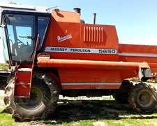 Cosechadora Arrocera Massey Ferguson 5650 Año 2004