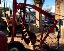Hoyadora. Motor Y Levante Hidraulico.