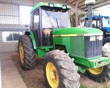 Tractor, John Deere, Mod. 6600, Dt, Cabina Original Con A/a