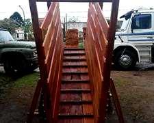 Cargador Hacienda Embarcadero 3,50m Reforzado Agraso Maderas