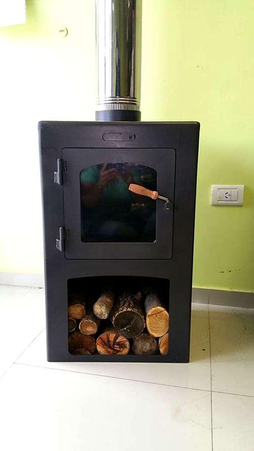 Salamandra estufa cocina con kit de canos completo agroads - Salamandras de cocina ...