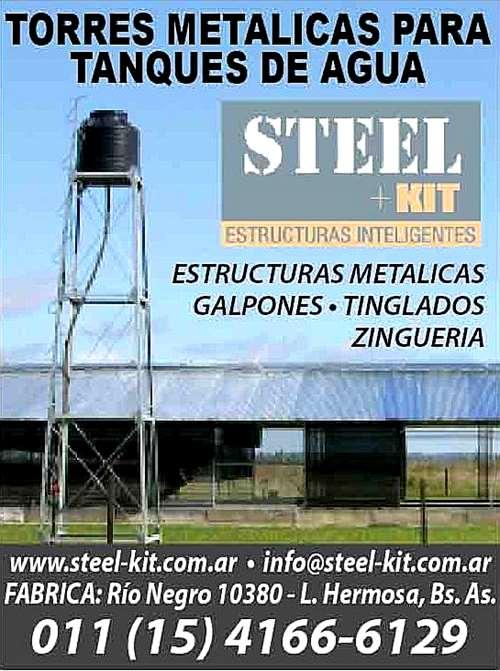 Torres metalicas para tanques de agua modulares for Estanque de agua 10000 litros precio