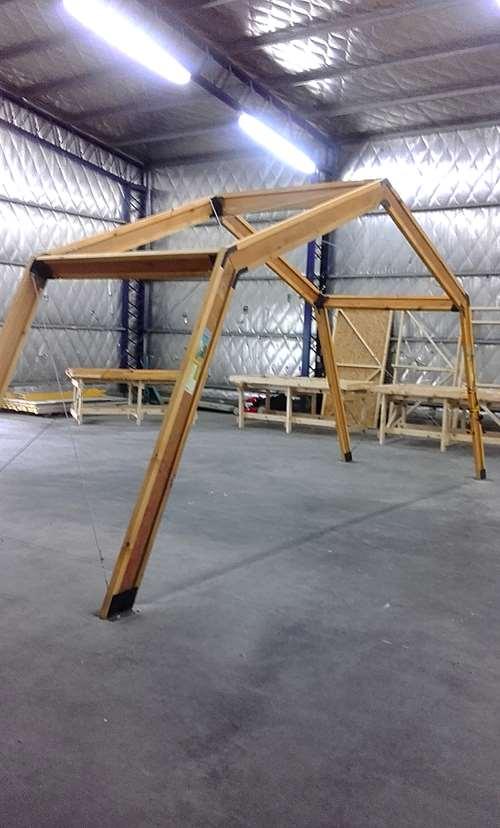 estructura para viveros invernaderos de madera