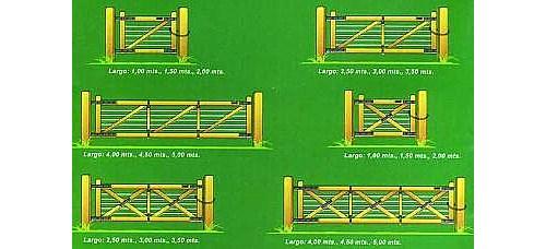 Modelo 2: Portones De Tirantes Y Hierro.
