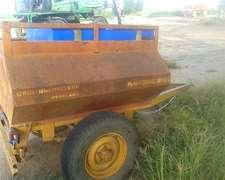 Acoplado Tanque 1.000 Lts. Con Tanque Agua 220 Lts.