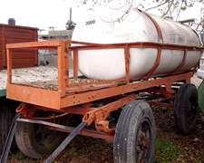 Acoplado Tanque De Fibra De 3000l