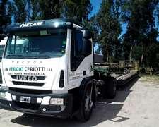 Camion Iveco Con Carreton Vulcano
