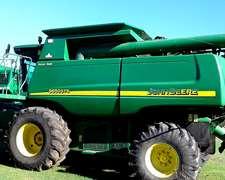 Cosechadora John Deere 9650, Doble Tracción