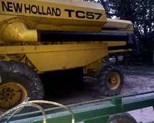 Cosechadora New Holland Tc57, 1998, 4x4, De19 Pies Superflex