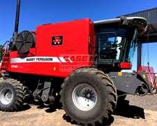 Massey Ferguson 9790 - Año 2013 -draper 35 Pies - 2200 Hs