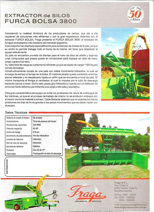 Extractor De Forrajes Y Granos Furca Bolsa 3800