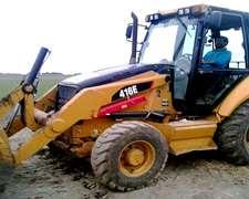 Pala Retro Caterpillar 416 E 4x4 Con 3° Via Hidraulica 2013