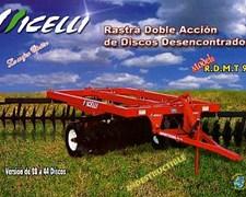 Rastra De Discos Desencontrados Micelli Rmdt 95