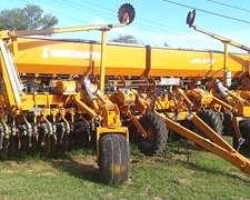 Sembradora Agrometal Mxy 37 Lineas A 17,5 Cm