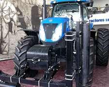Tractor New Holland T7215 De 180hp Con Rolos Pisa Palo