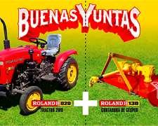 Tractor Roland H020 Con Cortadora De Césped Roland H130