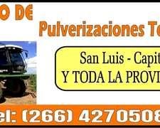 Fumigacion Terrestre San Luis La Pampa Y Zonas Aledañas